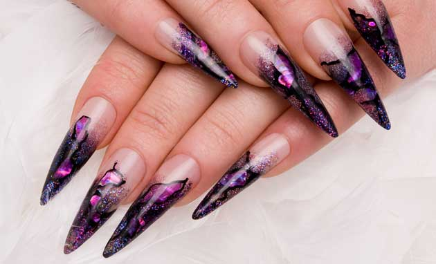 stilletto nails - Fingernagel Muster Einfach